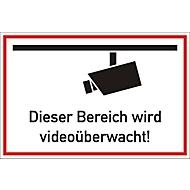 Panneau d'indication : Zone sous surveillance vidéo !, 300 x 200 mm