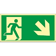 Panneau vers la droite en descente