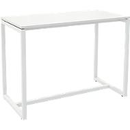 Paperflow Easy Desk statafel, metaal, met vloervlakschroeven, H 1100 mm, wit/wit