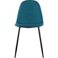Paperflow shell stoel, gestoffeerd, 100% polyester, stalen frame, zithoogte 480 mm, set van 2, zwart/benzine