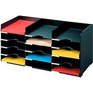 PAPERFLOW Sortierstation, DIN A4, Polystyrol, schwarz