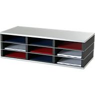PAPERFLOW Sortierstation, DIN A4, Stahl/Polystyrol, 9 Fächer
