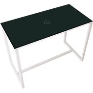 Paperflow Stehtisch Easy Desk, aus Metall, mit Bodenausgleichsschrauben, H 1100 mm, anthrazit/weiß