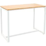 Paperflow Stehtisch Easy Desk, aus Metall, mit Bodenausgleichsschrauben, H 1100 mm, buche/weiß