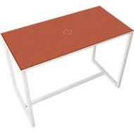 Paperflow Stehtisch Easy Desk, aus Metall, mit Bodenausgleichsschrauben, H 1100 mm, rot/weiß