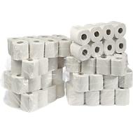 Papier toilette, double épaisseur, 64 rouleaux avec 250 feuilles chacun, cellulose, blanc naturel