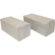 Papieren handdoeken SCHÄFER SHOP zigzagvouwen, 1-laags, L 250 x B 210 mm, scheurvast, 5000 vellen, naturel