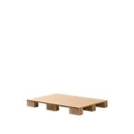 Papieren honingraatpallet, variant vierwegpallet + honingraatbodem, L 1200 x B 800 mm, tot 1000 kg, onder te rijden & te recyclen
