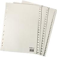 Papieren indexbladen A4, per stuk, A4 1-10, lichtchamoisgeel