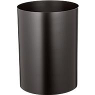 Papierkorb aus Stahl, feuerfest, schwarz, 20 l, ohne Kopfteil