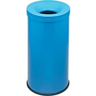 Papierkorb Cocorito, feuerfest, Inhalt 50 Liter, mit Deckel, himmelblau