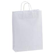 Papiertasche groß, Weiß, Standard, Auswahl Werbeanbringung optional