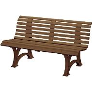 Parkbank, 3-Sitzer, L 1500 mm, braun