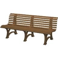 Parkbank, 4-Sitzer, L 2000 mm, braun