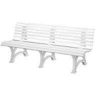 Parkbank, 4-Sitzer, L 2000 mm, weiß