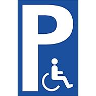 Parkeerplaatsbord (Alu-Dibond), gehandicaptesymbool
