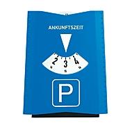 Parkscheibe mit Münzfächern, Standard, Auswahl Werbeanbringung optional