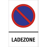 Parkverbot-Schilder, Ladezone