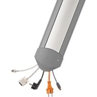 Passage de câbles B15 EasyLoader alu, 1500 mm, gris/couvercle aluminium argenté