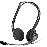 PC Headset Logitech 960 USB, binaural, bedraad, microfoon met ruisonderdrukking, zwart