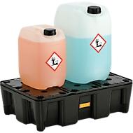 PE-Auffangwanne 25HD, aus Polyethylen, 100 % recycelbar, mit PE-Rost
