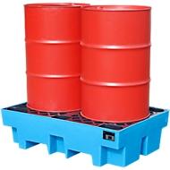 PE-lekbakken voor 2 x 200 liter vaten