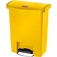 Pedaalemmer Slim Jim®, kunststof, volume 30 liter, geel