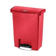 Pedaalemmer Slim Jim®, kunststof, volume 30 liter, rood