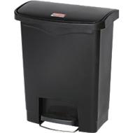 Pedaalemmer Slim Jim®, kunststof, volume 30 liter, zwart