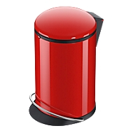 Pedaalvuilnisemmer Hailo Harmony M, 12 l, rond, Soft-Close-deksel, plaatstaal, rood