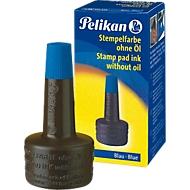 Pelikan Stempelfarbe, Verstreichflasche, 28 ml, ohne Öl, blau