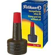 Pelikan Stempelfarbe, Verstreichflasche, 28 ml, ohne Öl, rot