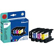 Pelikan Tintenpatronen 4-er SET, baugleich LC1240 Serie, cyan, magenta, gelb, schwarz