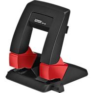 Perforator Rapid SP30 Press Less SB, 2-voudige perforatie 80 mm, voor 30 vellen, ergonomisch, zwart-rood