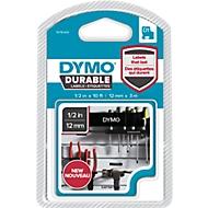 Permanenthaftendes D1-Hochleistungsband aus Vinyl, B 12 mm, schwarz/weiß