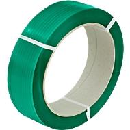 PET polyester- omsnoeringsband 12,5 x 0,60 mm x 2500 m, groen, kern: 406 mm