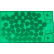 Pfefferminzspender Cool-Card, Kartenformat, grün/transparent