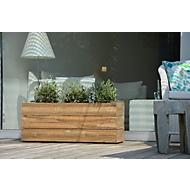 Pflanzbehälter Jan Kurtz Mini Garden, Edelstahl/reyceltes Teak-Holz, B 250 x T 250 x H 530 mm