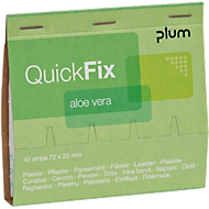 Pflasterstrips QuickFix Aloe Vera, Nachfüllpack f. Spender, feuchtigkeitsspendend, 6 x 45 St.