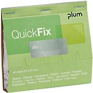 Pflasterstrips QuickFix Alu, Nachfüllpack f. Spender, m. Antihaftschicht, 6 x 45 St.