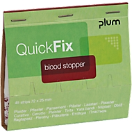 Pflasterstrips QuickFix Blood Stopper, Nachfüllpack f. Spender, m. Alginatfasern, 6 x 45 St.