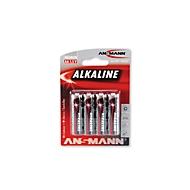 Piles alcalines Ansmann Mignon AA, 4 pièces
