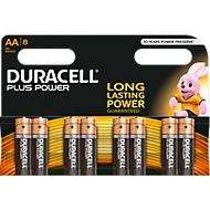 Piles Duracell Plus Mignon AA,  8 unités