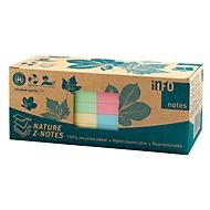 Plakbriefjes, B 75 x H 75 mm, Z-vouw, gerecycled papier, geassorteerde kleuren, elk 100 vellen, 12 blokken