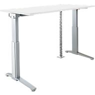 PLANOVA ERGOSTYLE bureautafel, elektr. in hoogte verstelbaar B 1600 mm + accentstrips + kabelslang GRATIS, wit