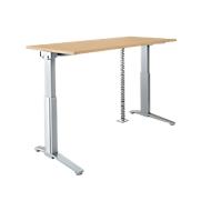 PLANOVA ERGOSTYLE Schreibtisch, elektr. höhenverstellbar B 1600 mm+ Akzentset + Kabelschlange GRATIS, Ahorn-Dekor