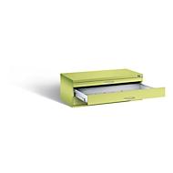 Planschrank aus Stahl, für Formate bis DIN A1, 3 Schubladen