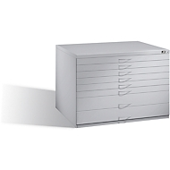 Planschrank aus Stahl, für Formate bis DIN A1, 8 Schubladen