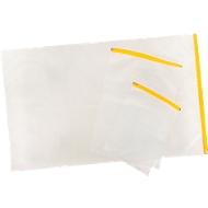 Planschutztasche Eichner, gelber Gleitverschluss, Polyethylen transparent, Format A4