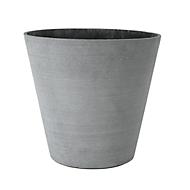Plantenbak Blomus COLUNA, Ø 340 x H 320 mm, polyresine, met viltpad, donkergrijs